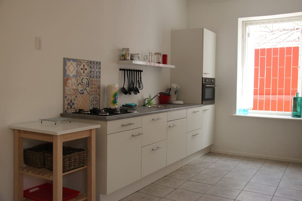Spacious kitchen with microwave/oven and Senseo coffee maker.