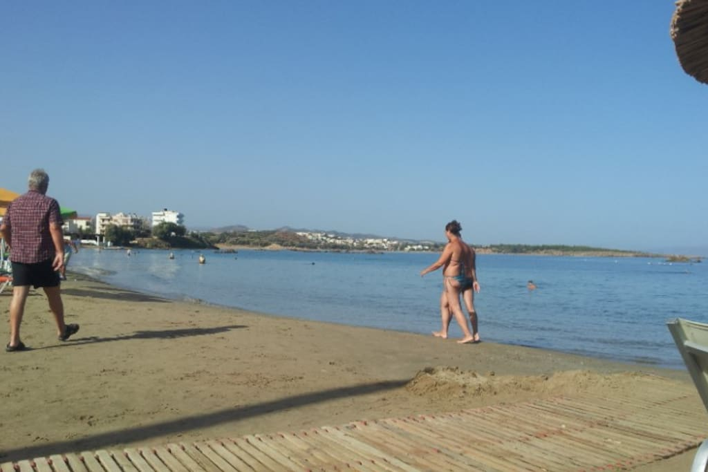 Quiet and family place. You can easily swin or walk on Nea Chora beach