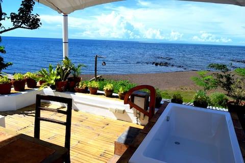 Beach villa, rice paddies, volcano, top cuisine+u
