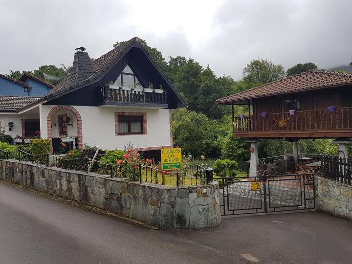 casa de alquiler integro con jardin y barbacoa