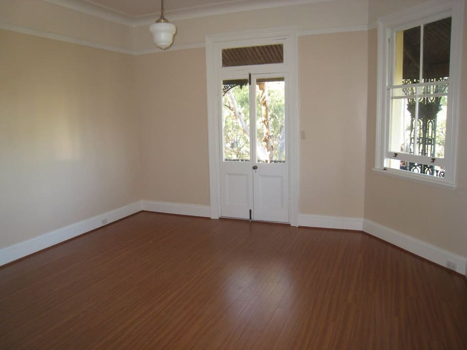 Room to move and stretch out. Polished floors throughout.
