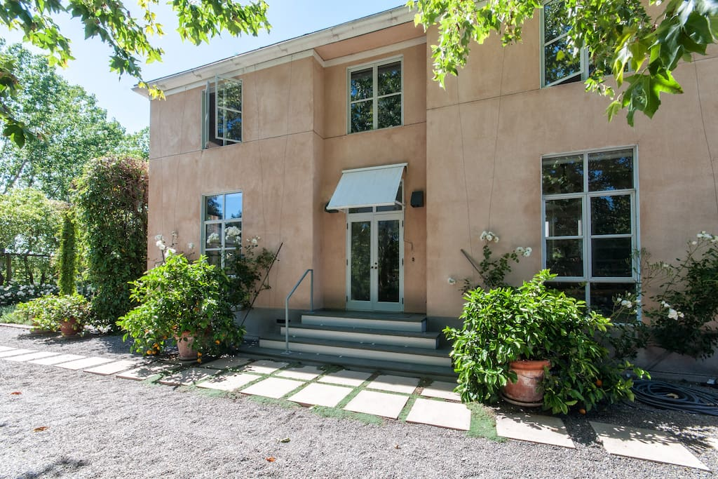 The tranquil, mediterranean style,  farmhouse.