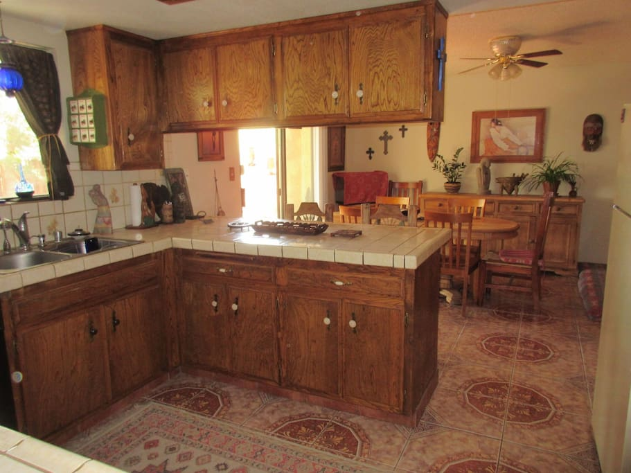 The kitchen has a dishwasher, microwave, a new Britta water filtration system, and everything you could need for cooking and dining.
