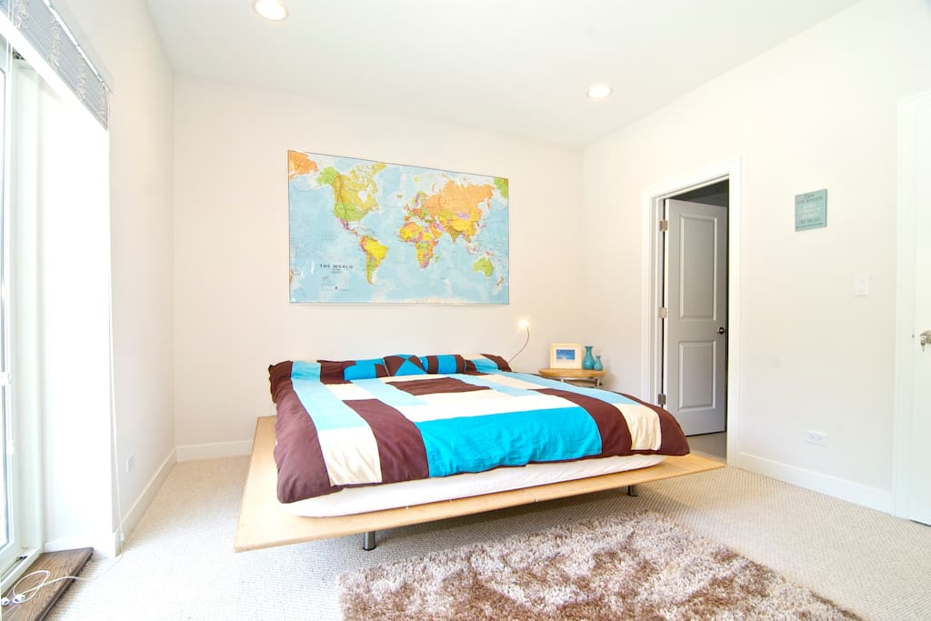This is the master bedroom.  That rug is so fluffy you sink into it up to your ankles!