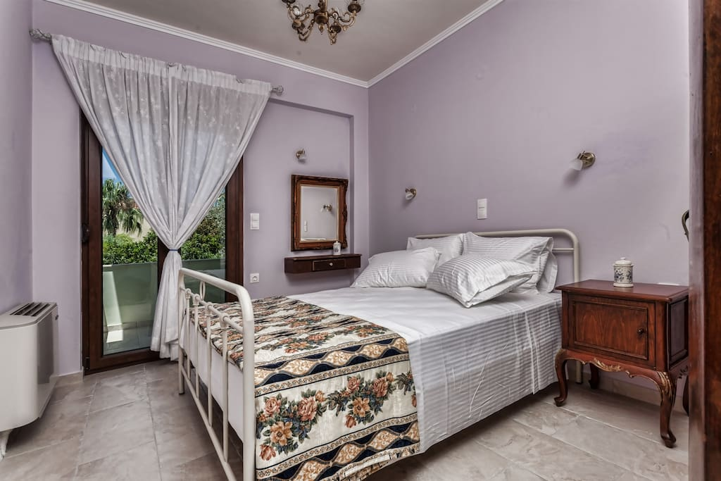 A double bedroom with olive groves view!
