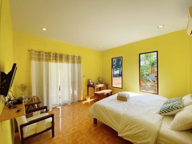Barefoot Beach House (Yellow Sunrise)