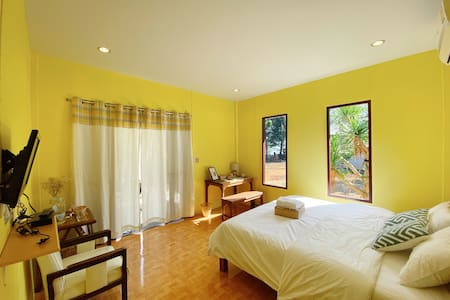 Barefoot Beach House (Yellow Sunrise)