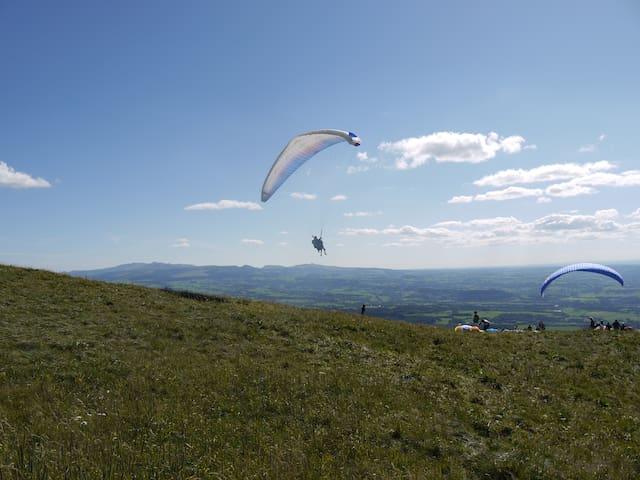 Foto vanaf de Puy de Dôme
