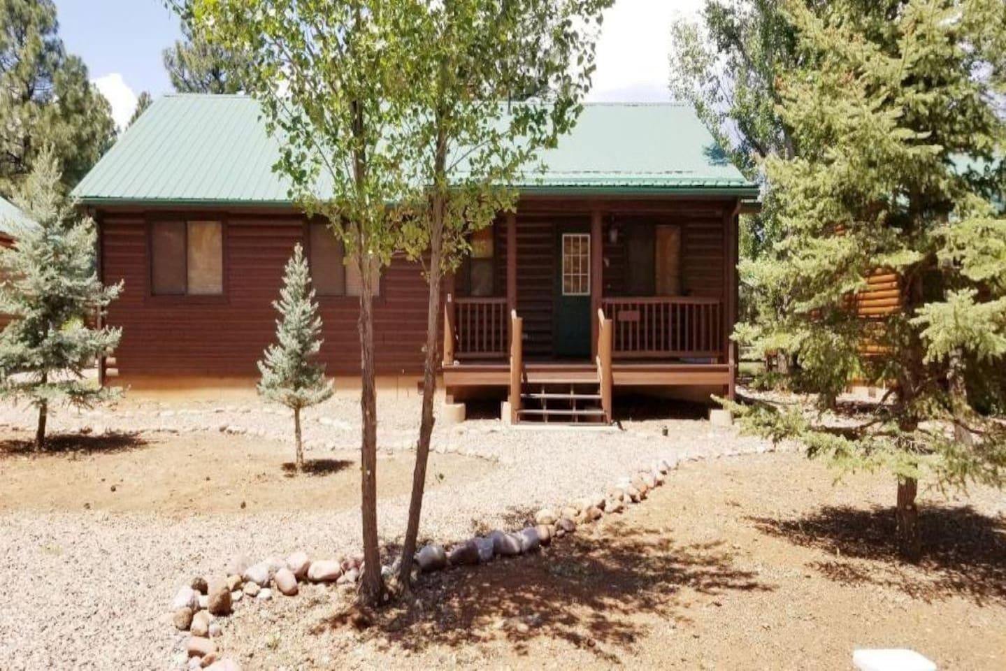 Front of Elk Ridge Cabin