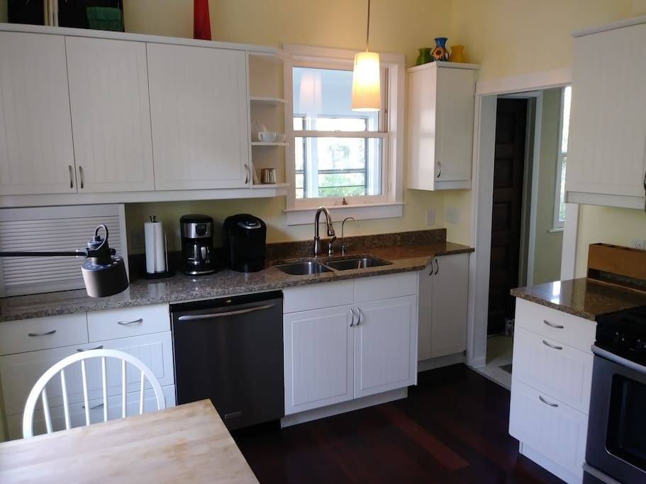 Updated kitchen with sitting area.