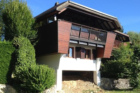 Chalet with magnificent lake view - Thollon-les-Mémises - Alpehytte