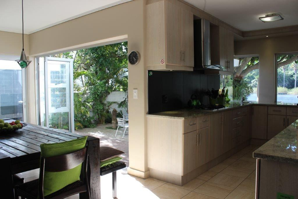 Kitchen with direct access to outside entertainment areas