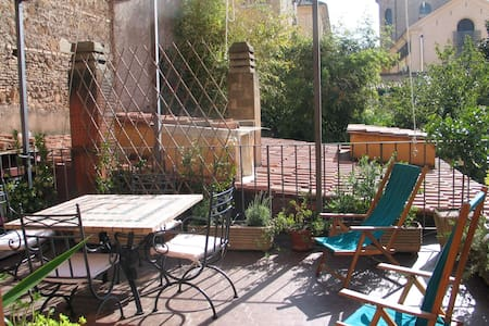 A terrace in the green and in historic Rome - Rom - Wohnung