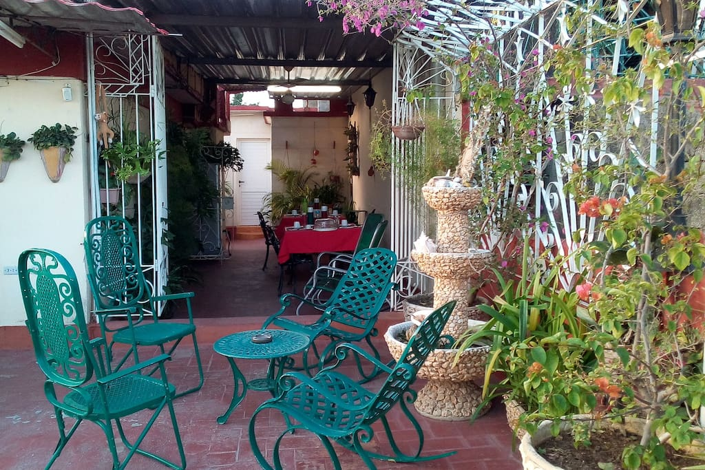 Taste delicious breakfast and dinner at the relaxing terrace.