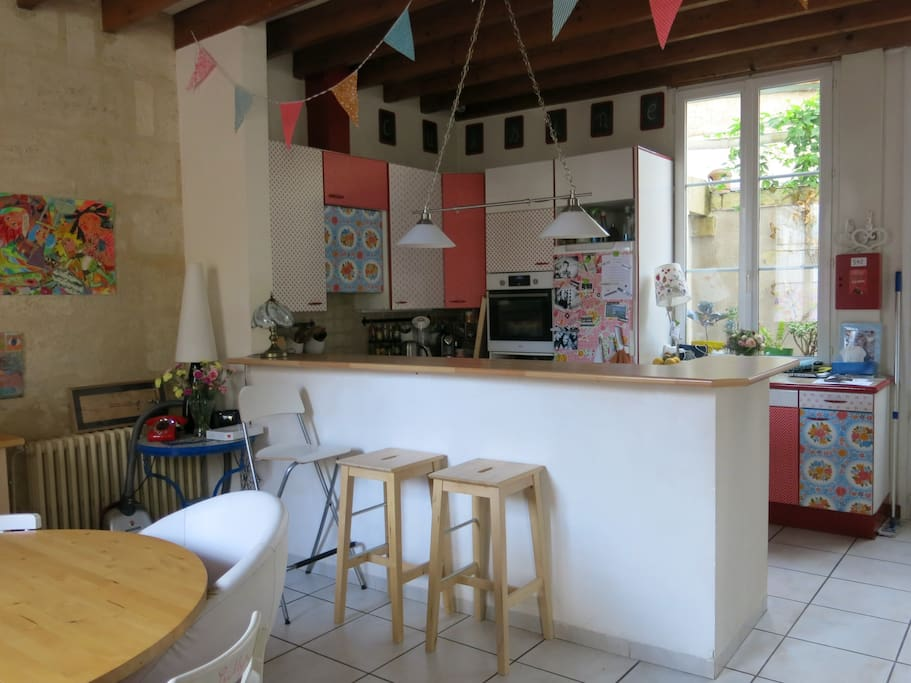Maison calme au centre de bordeaux houses for rent in for Allez cuisine translation