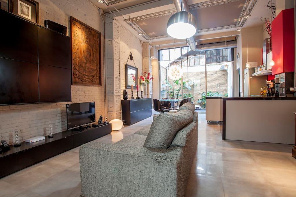 Charming loft ruzafa lofts for rent in valencia - Loft valencia ...