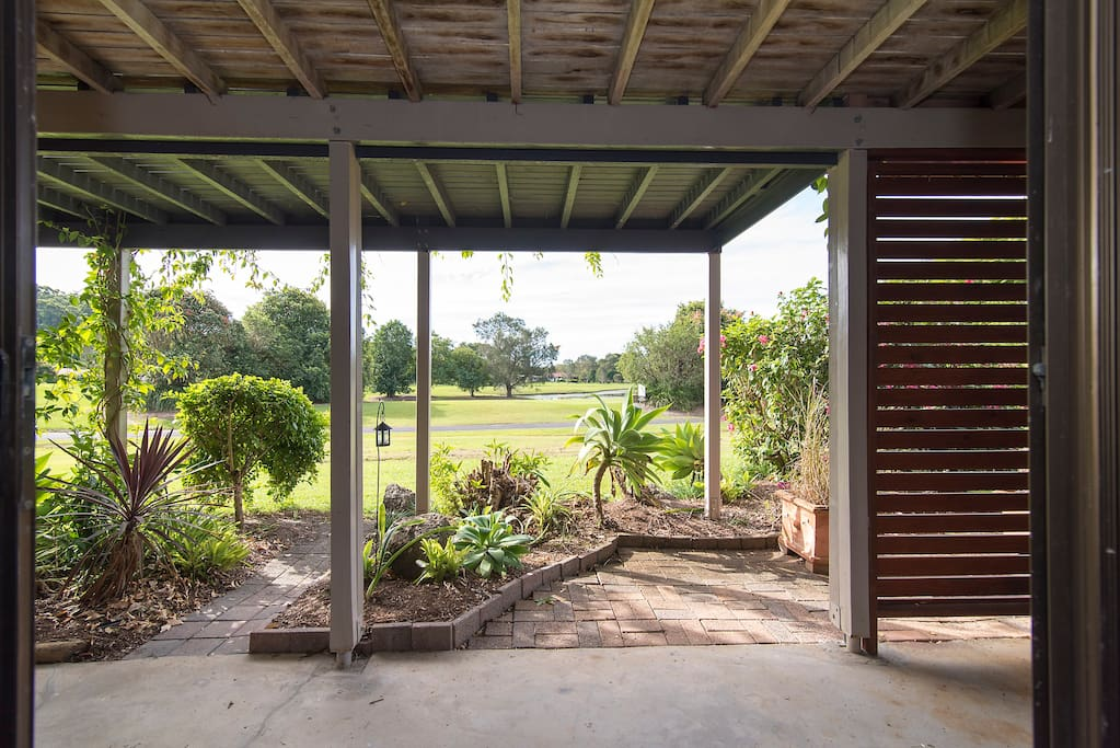 View to golf course from your basement apartment