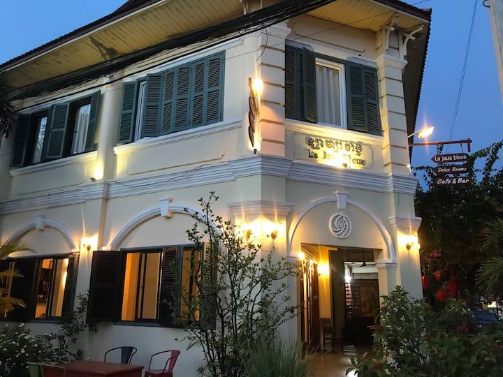 inside Colonial Kampot, La Java Bleue for you