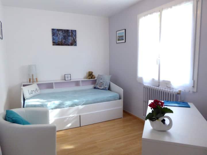 Chambre spacieuse en appartement