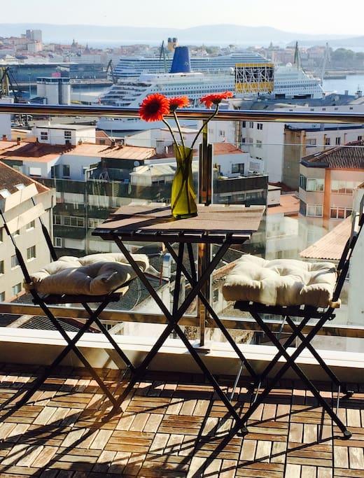 Detalle de la terraza