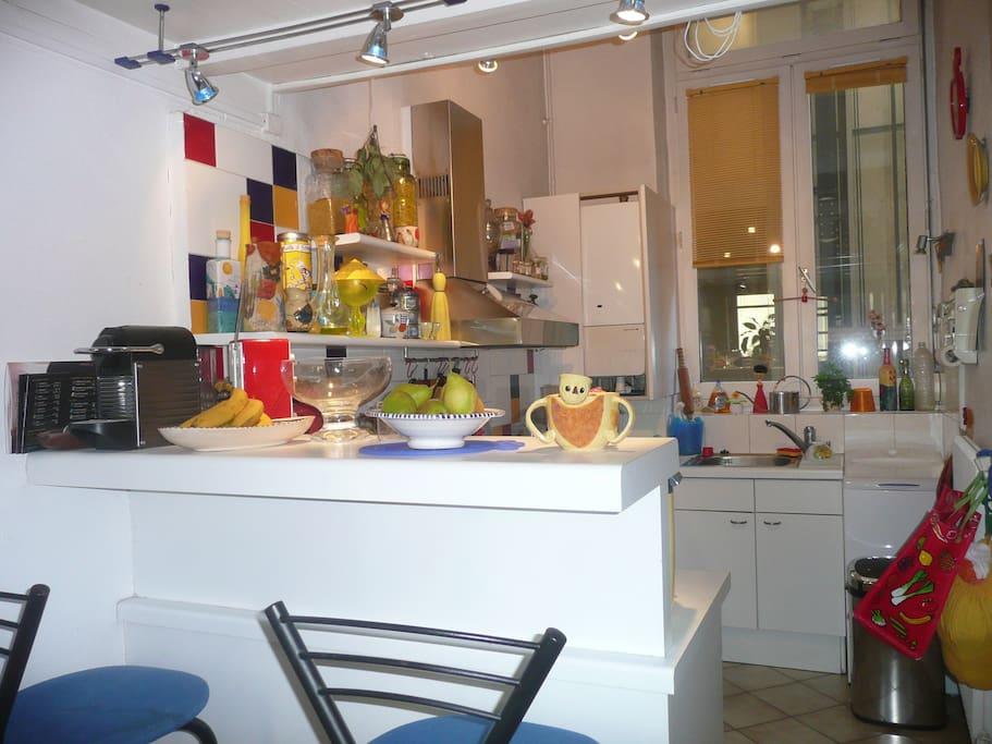 cuisine intégrée mise à disposition