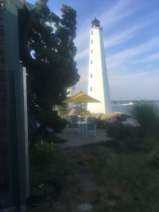 1801 harbor lighthouse and my patio