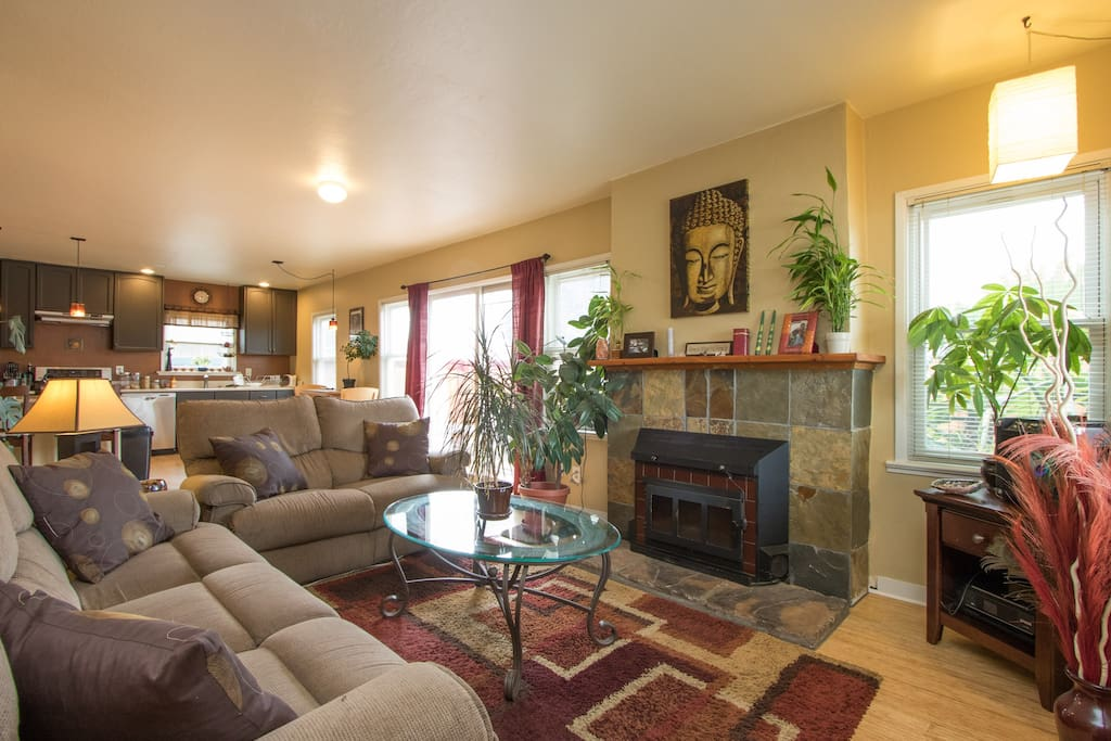 Cozy living room with recliner couches