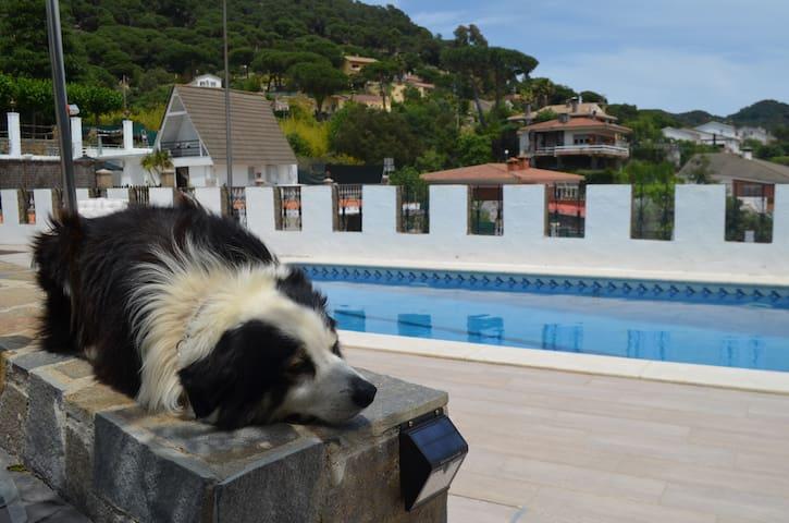 Lacova in natur park 25Km Barcelone.  Private pool