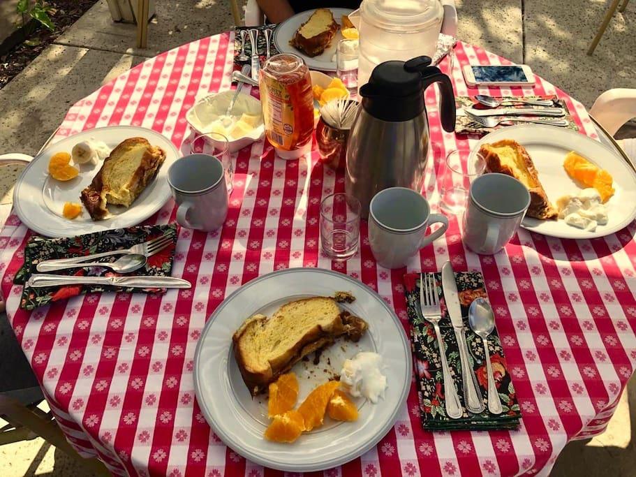 Breakfast served!  Photo taken by Guest
