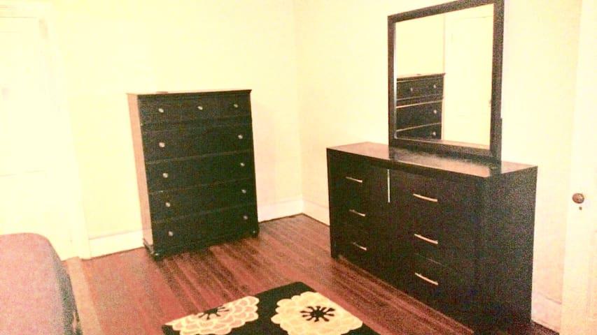 Dressers in master bedroom