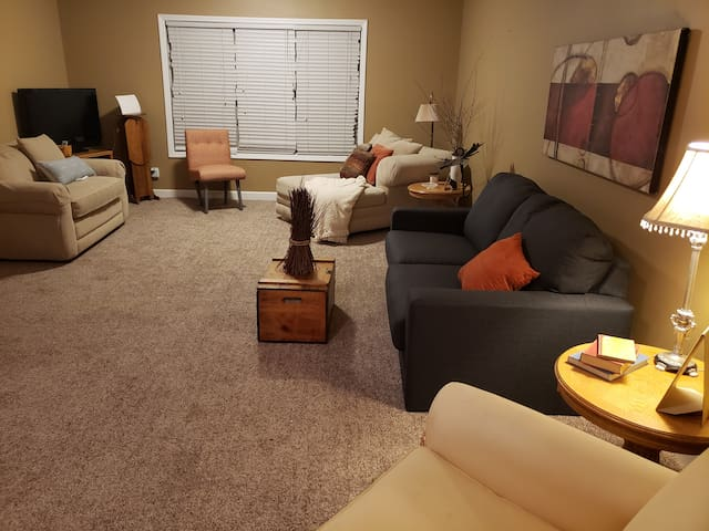 Full basement with private entrance &  patio