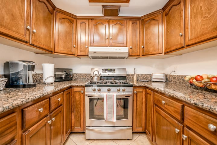 Home comes with a fully functional kitchen perfect for a cozy dinner date!