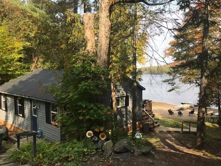 Cottage on Haliburton Lake with sandy beach