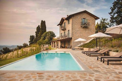 Vigna Rocchetta - Nouvelle maison de luxe - Piscine à débordement