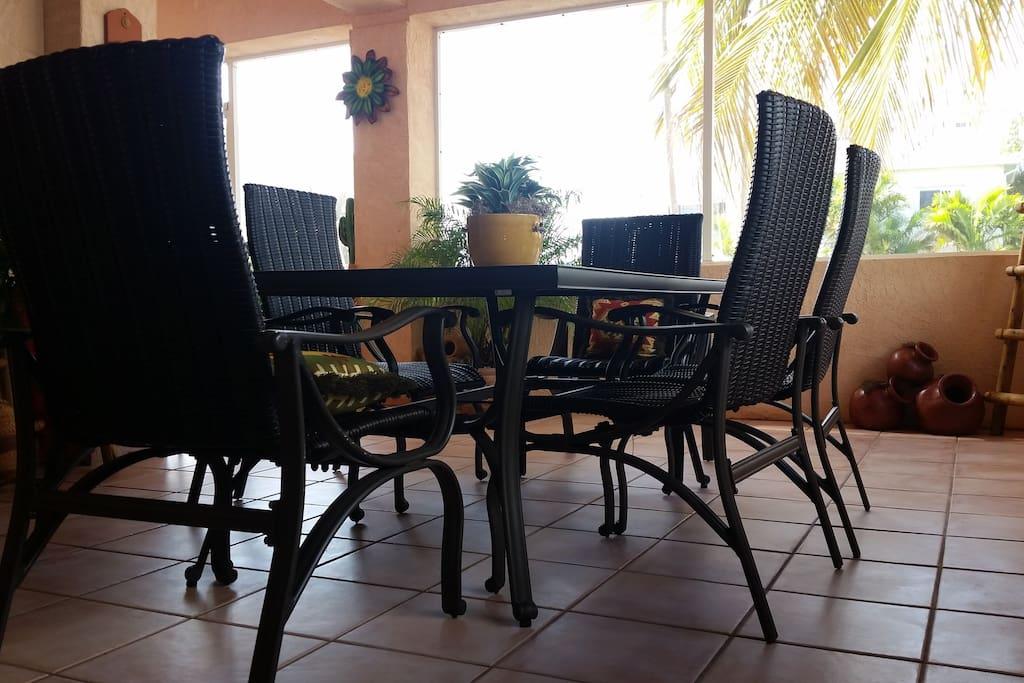outdoor hangout room.