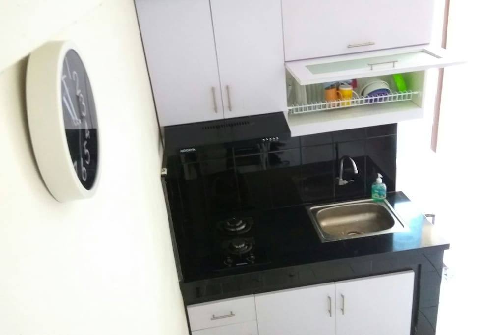 A kitchenette to cook some basic meals