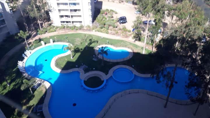 Excelente departamento con vista al mar en Mirasol