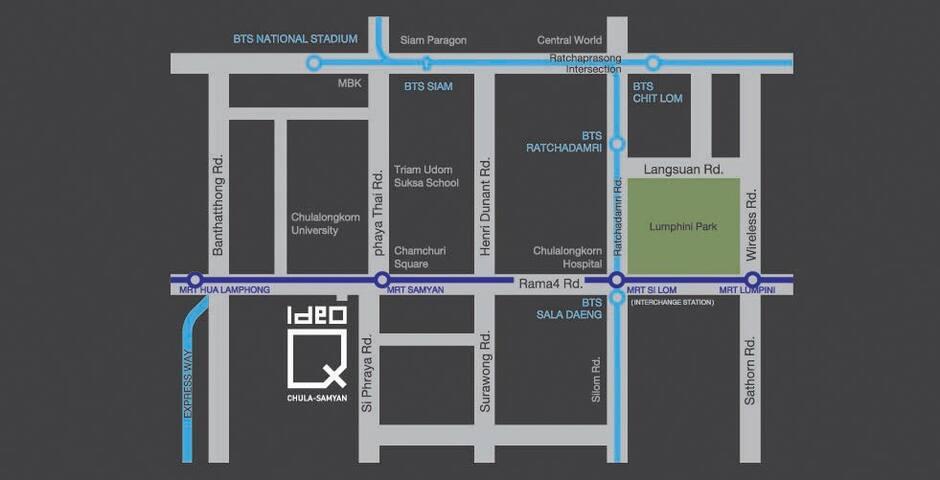 คอนโดมิเนียม IDEO Q จุฬาฯ - สามย่าน ชั้น 21