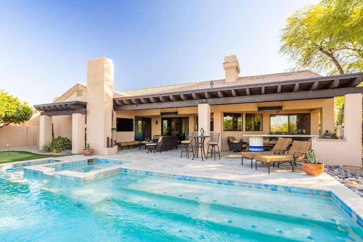 🌵 Bella's Private Pool, Jacuzzi & Putting Green on TPC Phoenix Open Golf Course!  🌵 30 Day Min.