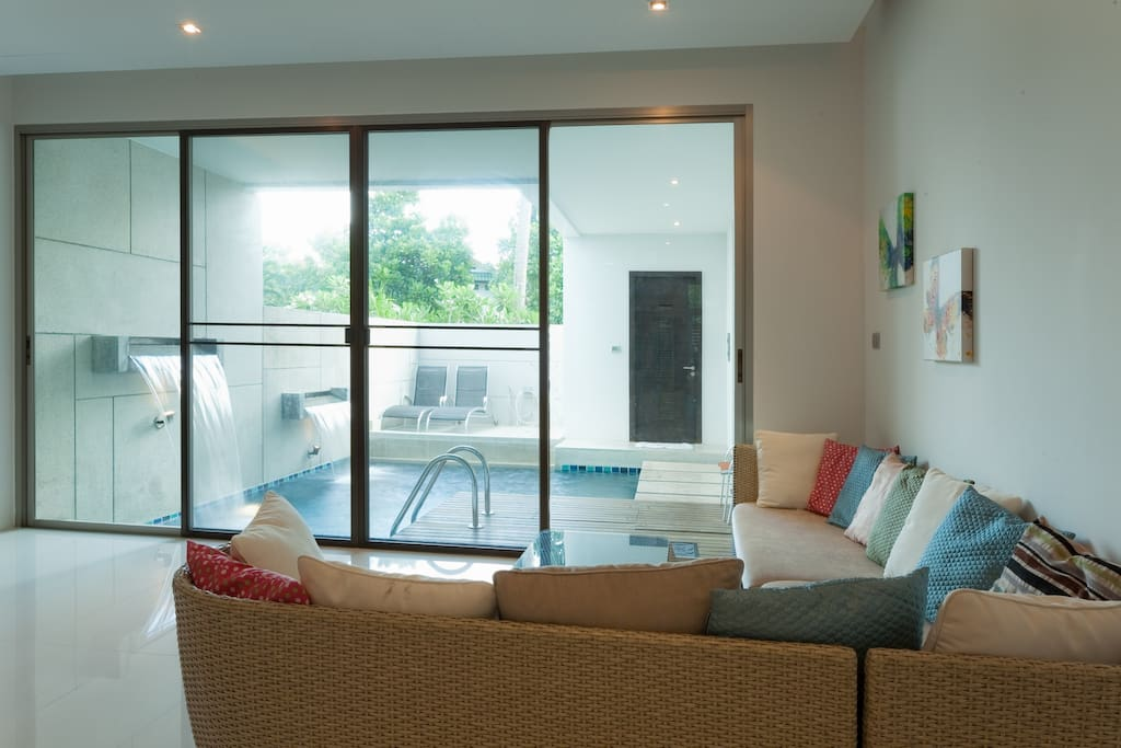 Living Room and Inhouse Pool