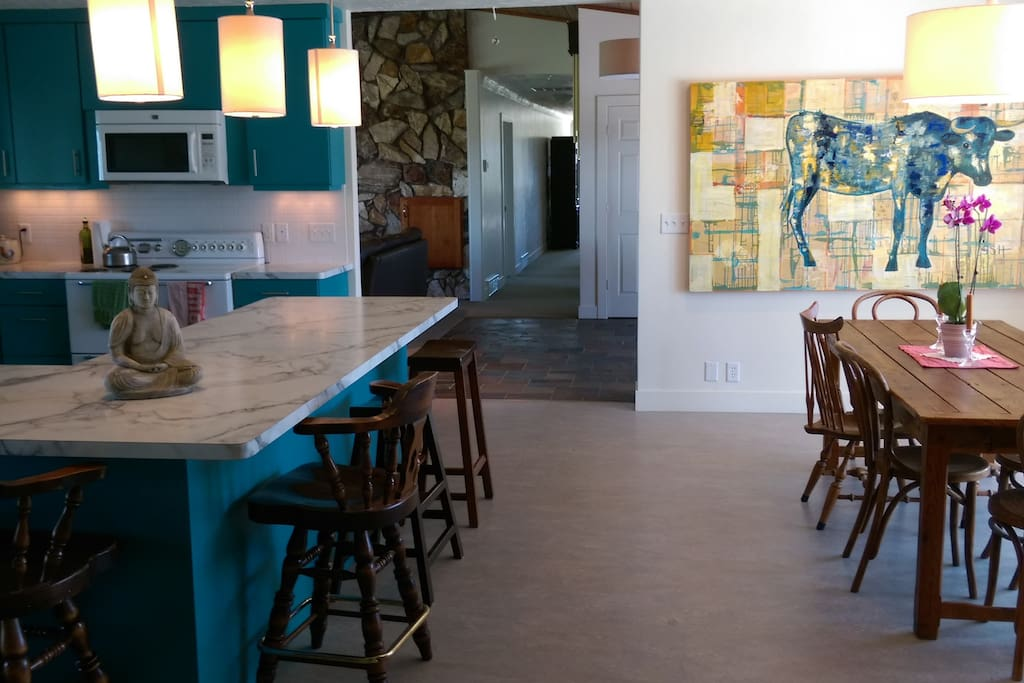 ample seating in kitchen