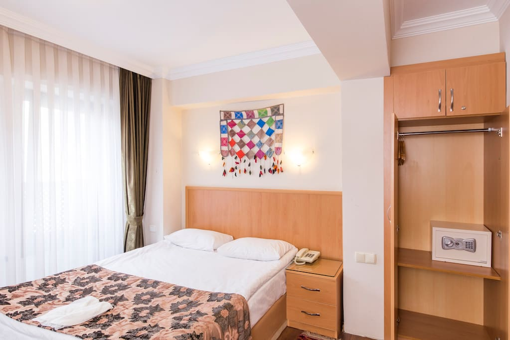 Clean, comfortable, modern room. Air-conditioned & Furnished with comfortable beds.