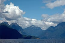 views of Jervis Inlet