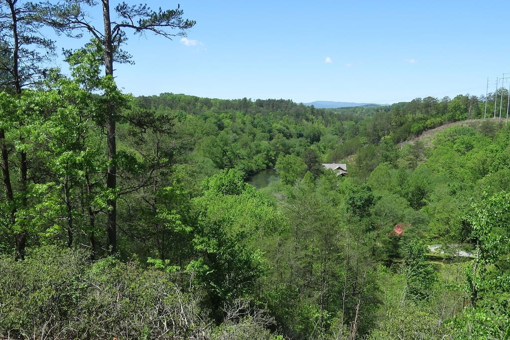 Majestic views of the Cohutta Mountain Range and Toccoa River surround you.