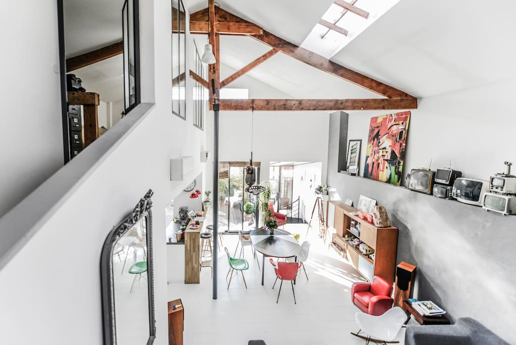 Loft atelier d 39 artiste terrasse lofts louer for Location atelier loft
