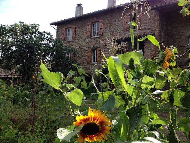 Maison en pierre en Ardèche Verte - Saint-Romain-d'Ay - Rumah