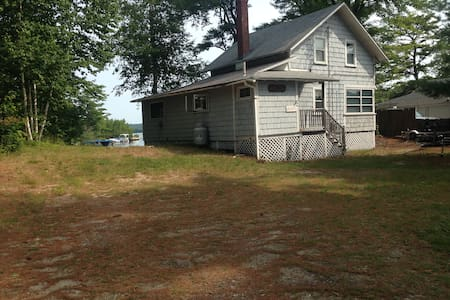 Lake Front Cottage w Private Beach - Windham - Casa