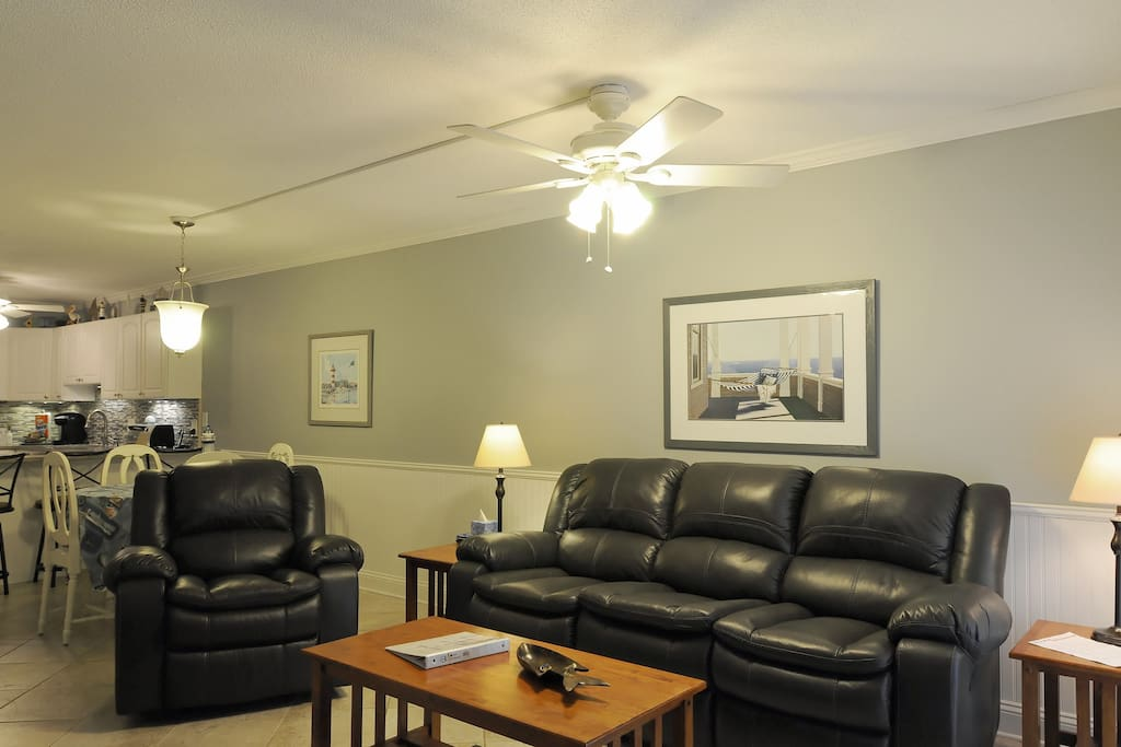 Living room with recliner and sofa with recliners