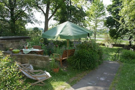 Cozy garden apartment on the river Elbe - Dresde - Appartement
