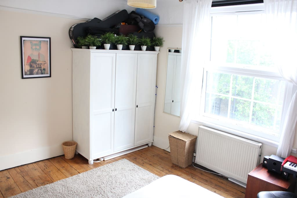 Ample floor space. Wardrobe will not be available for use (Other storage available).